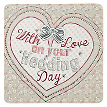Buy Laura Darrington With Love on Your Wedding Day Greeting Card Online at johnlewis.com