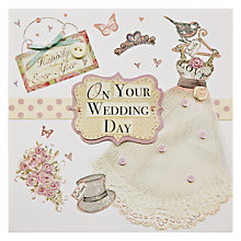 Buy Mint Wedding Dress Greeting Card Online at johnlewis.com