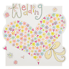 Buy Rachel Ellen Designs Cloud Cuckoo Land - Wedding Heart Greeting Card Online at johnlewis.com