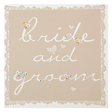 Buy Card Mix Bride & Groom Wedding Card Online at johnlewis.com