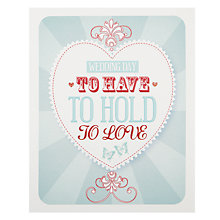 Buy Art File Heart Wedding Card Online at johnlewis.com
