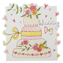 Buy Rachel Ellen Designs Cloud Cuckoo Land - Wedding Day Cake Greeting Card Online at johnlewis.com