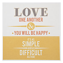 Buy Urban Graphic Love One Another Greeting Card Online at johnlewis.com
