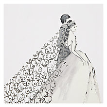 Buy Art Beat Silver Veil Greeting Card Online at johnlewis.com