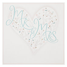 Buy Woodmansterne Mr & Mrs Wedding Card Online at johnlewis.com