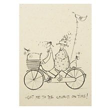 Buy Art Press Bicycling Wedding Card Online at johnlewis.com