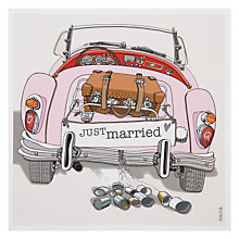 Buy Black Olive Wedding Car Greeting Card Online at johnlewis.com
