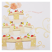 Buy Black Olive Wedding Cupcakes Card Online at johnlewis.com