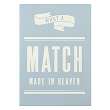 Buy Art File What A Match Wedding Card Online at johnlewis.com