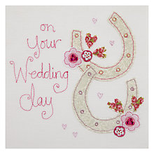 Buy Blue Eyed Sun Horse Shoes Wedding Card Online at johnlewis.com