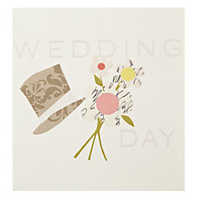 Buy Caroline Gardner Hat & Bouquet Wedding Card Online at johnlewis.com