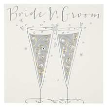 Buy Belly Button Designs Bride & Groom Wedding Card Online at johnlewis.com