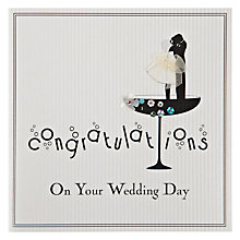 Buy Five Dollar Shake Congratulations On Your Wedding Day (Cocktail Glass) Greeting Card Online at johnlewis.com