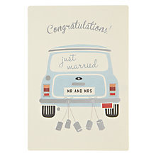Buy James Ellis Stevens Wedding Mini Retro Press Greeting Card Online at johnlewis.com
