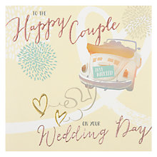 Buy Hotchpotch Happy Couple Wedding Day Greeting Card Online at johnlewis.com