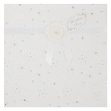 Buy Paper Rose White Floral Emboss Greeting Card Online at johnlewis.com