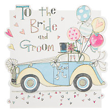 Buy Rachel Ellen Bride and Groom Car Wedding Card Online at johnlewis.com