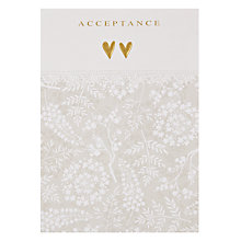 Buy Paper Rose Acceptance Greeting Card Online at johnlewis.com