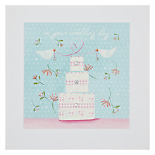 Buy James Ellis Stevens Wedding Cake Square Gems Greeting Card Online at johnlewis.com