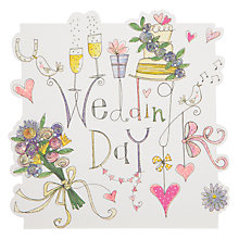 Buy Rachel Ellen Designs Cloud Cuckoo Land - Wedding Day Icons Greeting Card Online at johnlewis.com