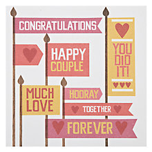 Buy Urban Graphic Happy Couple Greeting Card Online at johnlewis.com