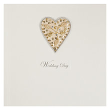Buy Saffron Mother of Pearl Button Heart - Wedding Greeting Card Online at johnlewis.com