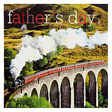 Buy Woodmansterne Train Over Viaduct Father's Day Card Online at johnlewis.com