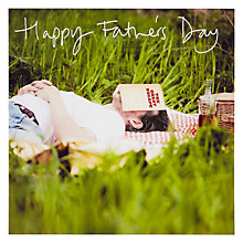 Buy Woodmansterne Man Sleeping Father's Day Card Online at johnlewis.com