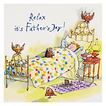 Buy Woodmansterne Man Lying In Bed Father's Day Card Online at johnlewis.com