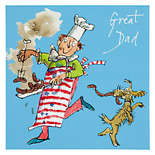 Buy Woodmansterne Chef Making Sausages Father's Day Card Online at johnlewis.com