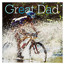 Buy Woodmansterne Mountain Biker Father's Day Card Online at johnlewis.com