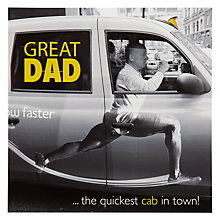 Buy Woodmansterne Taxi Driver Runner Father's Day Card Online at johnlewis.com