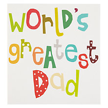 Buy Caroline Gardner Great Dad Father's Day Card Online at johnlewis.com