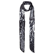 Buy Jigsaw Dival Sequin Scarf, Pewter Online at johnlewis.com