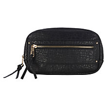 Buy Warehouse Mini Zip Across Body Handbag, Black Online at johnlewis.com