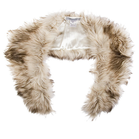 Buy Chesca Fox Faux Fur Scarf, Neutral Online at johnlewis.com