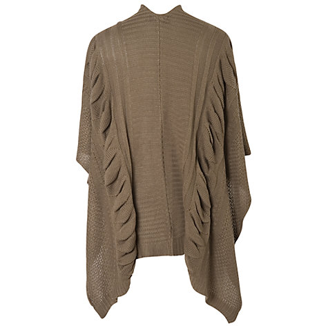Buy Chesca Ruched Cable Knit Wrap, Cappuccino Online at johnlewis.com