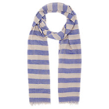 Buy Jigsaw Wool Stripe Scarf, Blue Online at johnlewis.com