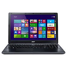 "Buy Acer Aspire E1-522 Laptop, AMD A4, 4GB RAM, 750GB, 15.6"", Black + Norton 360 Online at johnlewis.com"