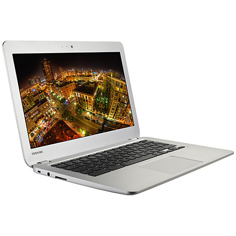 "Buy Toshiba Chromebook, Intel Celeron, 2GB RAM, 16GB SSD, 13.3"", Silver Online at johnlewis.com"
