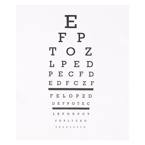 Buy Design Ideas Focus Eye Chart Cloth Online at johnlewis.com