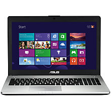 "Buy Asus N56VB Laptop, Intel Core i7, 8GB RAM, 750GB, 15.6"", Grey + Norton 360 Online at johnlewis.com"
