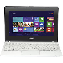 "Buy Asus VivoBook X102BA Laptop, AMD A4, 4GB RAM, 500GB, 10.1"" Touch Screen, White + Norton 360 Online at johnlewis.com"