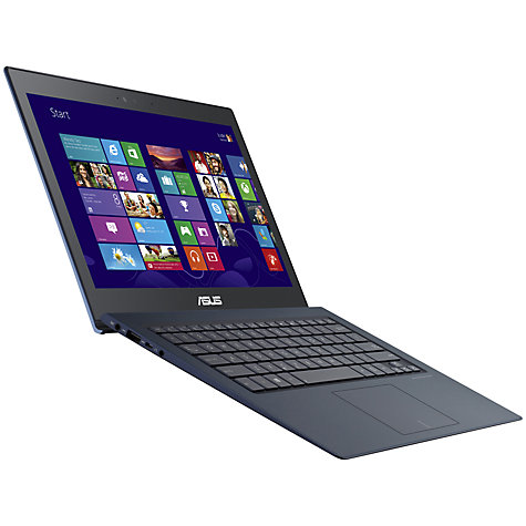 "Buy Asus Zenbook UX302 Ultrabook, Intel Core i7, 4GB RAM, 500GB + 16GB SSD, 13.3"" Touch Screen, Navy Online at johnlewis.com"