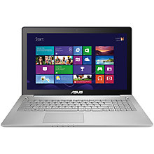 "Buy Asus N550LF Laptop, Intel Core i7, 8GB RAM, 1TB, 15.6"" Touch Screen, Grey + Norton 360 Online at johnlewis.com"