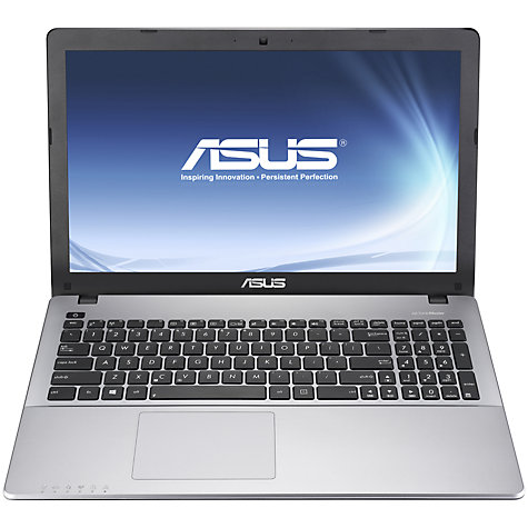 "Buy Asus VivoBook X550CA Laptop, Intel Core i3, 4GB RAM, 750GB, 15.6"" Touch Screen, Grey Online at johnlewis.com"