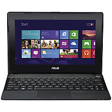 "Buy Asus VivoBook X102BA Laptop, AMD A4, 4GB RAM, 500GB, 10.1"" Touch Screen, Blue + Norton 360 Online at johnlewis.com"
