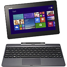 "Buy Asus Transformer Book T100TA Convertible Tablet Laptop, Intel Atom, 2GB RAM, 500GB+ 32GB eMMC, Windows 8.1 & Microsoft Office 2013, 10.1"" Touch Screen Online at johnlewis.com"