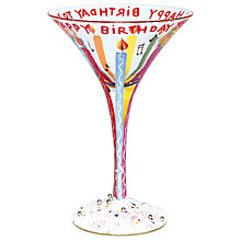 Buy Lolita Happy Birthday Martini Glass Online at johnlewis.com