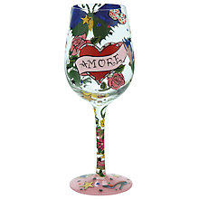 Buy Lolita Tatoo Amore Wine Glass Online at johnlewis.com